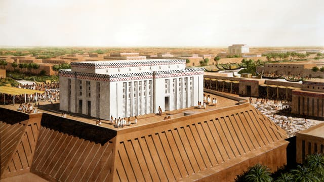 Weißer Tempel des sumerischen Himmelsgottes Anu, Uruk