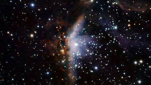 Die Sternentstehungsregion Gum 19 im Sternbild Segel