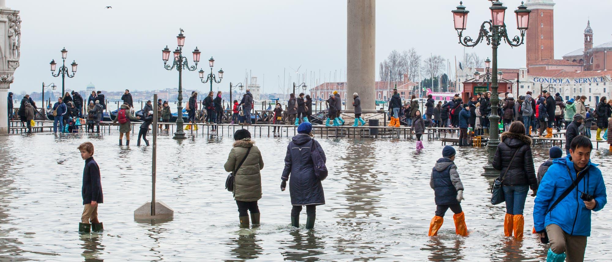 Hochwasser in Venedig (Archivbild)