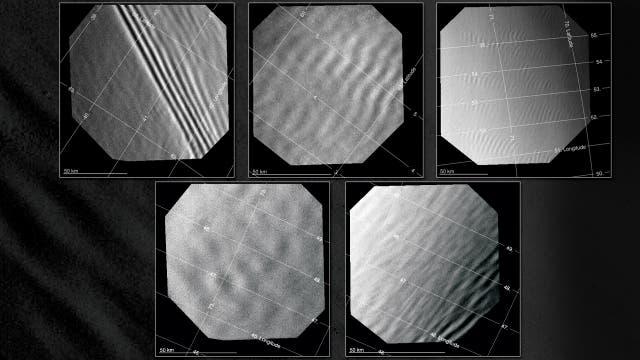 Wellenzüge in der Venusatmosphäre