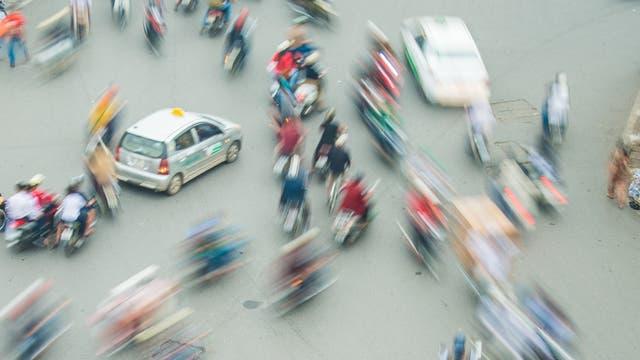 Verkehrschaos in Hanoi