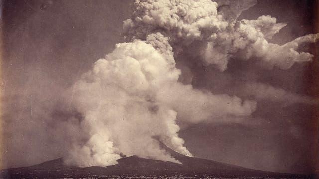 Ausbruch des Vesuv 1872