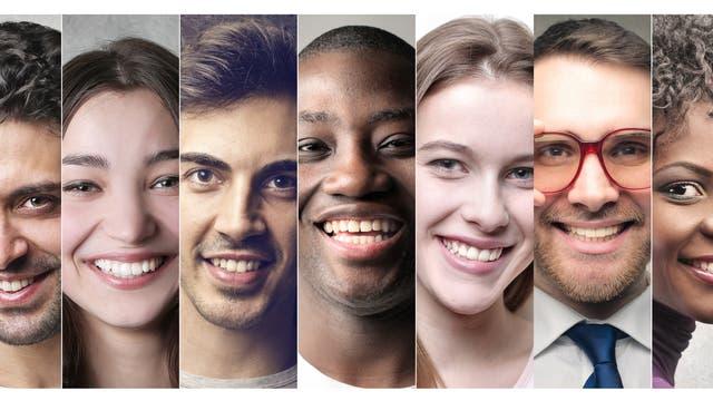Vielfalt von Gesichtern