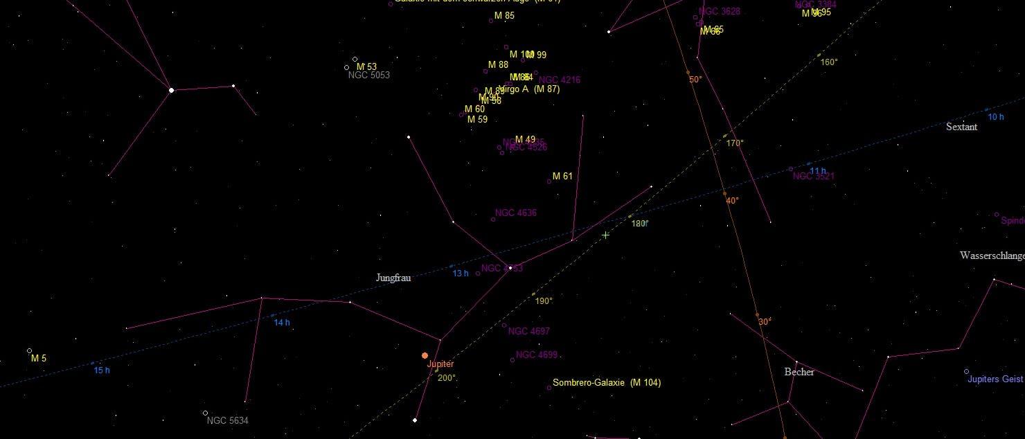 Galaxien im Sternbild Jungfrau