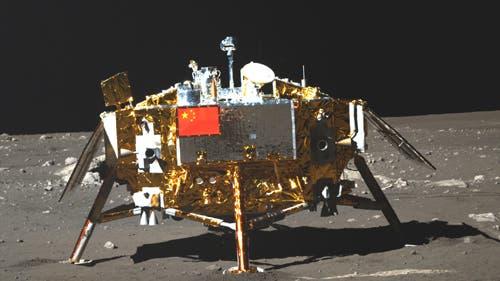 Chang'e-3 aus Sicht von Yutu II