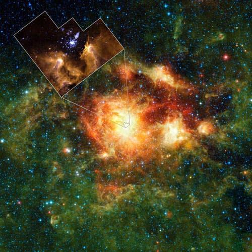 Die Sternentstehungsregion NGC3603 im Sternbild Carina