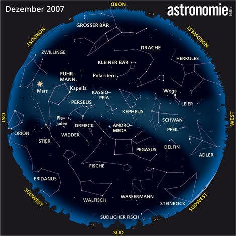 Der Sternenhimmel im Dezember 2007