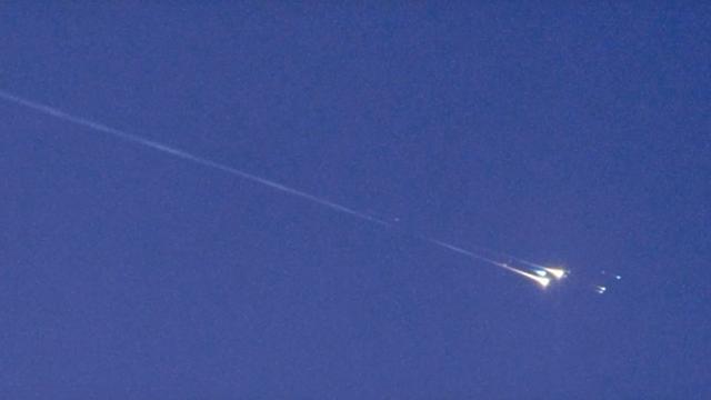 Eintritt des Objekts WT1190F in die Erdatmosphäre über Sri Lanka