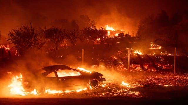 Waldbrand in Paradise, Kalifornien