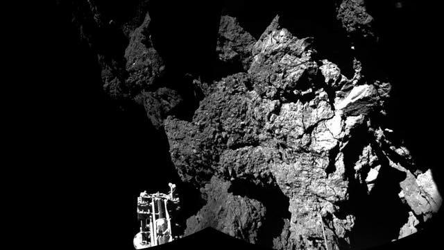 Erstes Philae-Bild nach der Landung auf 67P