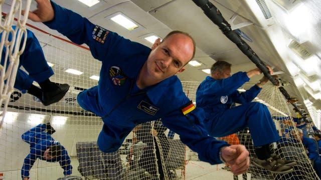Der deutsche Astronaut Alexander Gerst beim Training