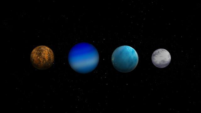 Planetentypen, die Cheops untersuchen soll
