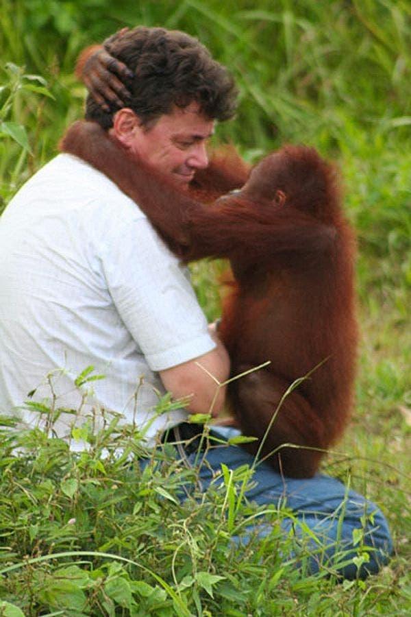 Willie Smits mit Orangutan