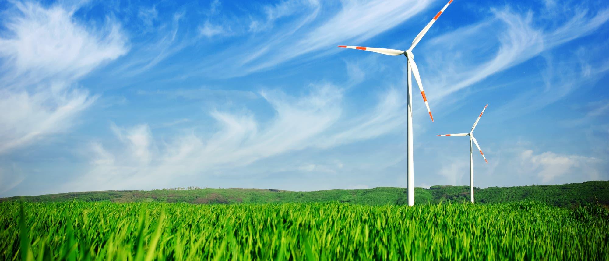 Windkraft auf dem Feld