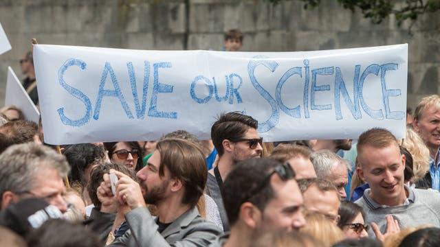 Wissenschaftler protestieren
