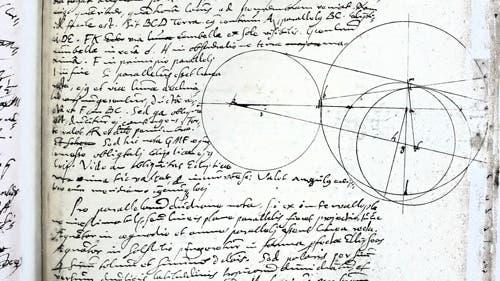 Originalseite aus den Kepler-Handschriften
