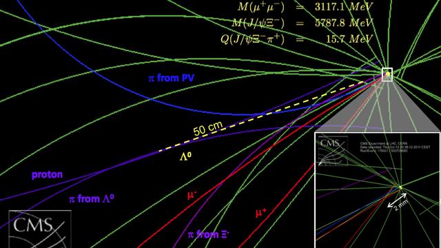 Neues Teilchen im CMS-Detektor