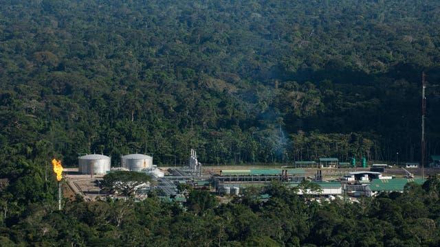 Ölanlage im Yasuni Nationalpark