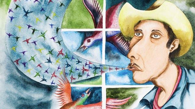 """Pfeifsprachen, """"ich singe, du pfeifst"""" Werk des Malers Fernando Alvarez Alonso"""