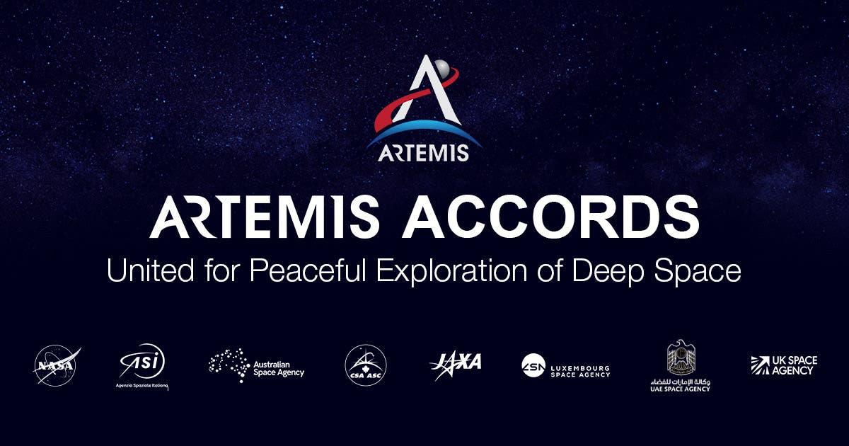 Werbebanner der Artemis Accords