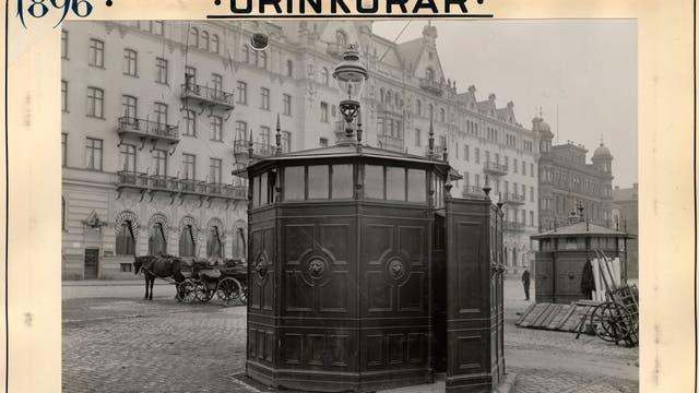 Eine öffentliche Toilette in Stockholm 1896