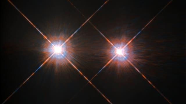 Hubbles bestes Bild von Alpha Centauri A und B