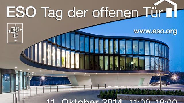 ESO-Gebäude und Text zum Tag der offenen Tür