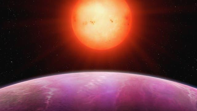 Der Planet NGTS-1 im Umlauf um sein Zentralgestirn (künstlerische Darstellung)