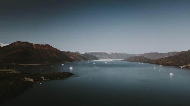 Eisige Landschaft