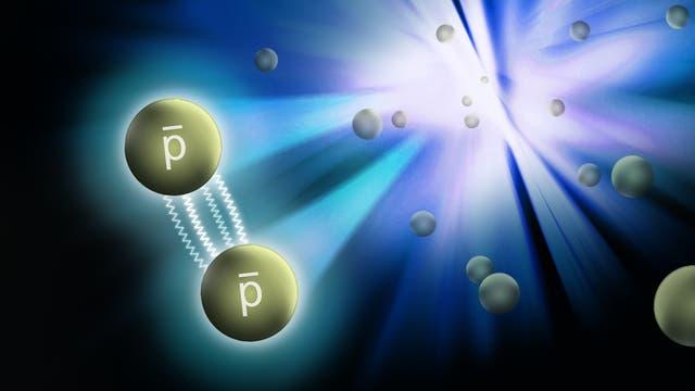 Welche Kräfte wirken zwischen zwei Antiprotonen?