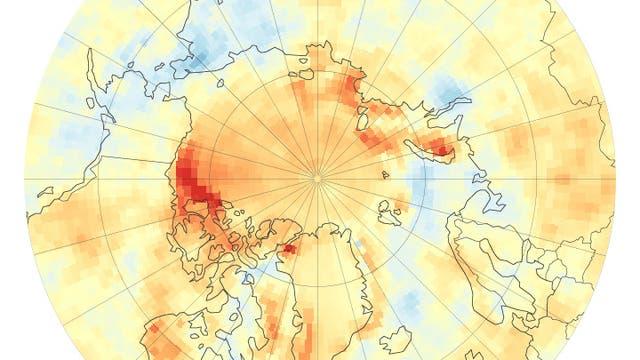Verringerte Albedo in der Arktis