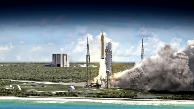 Start des Space Launch Systems