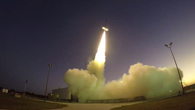 Start der Black-Brant-9-Rakete
