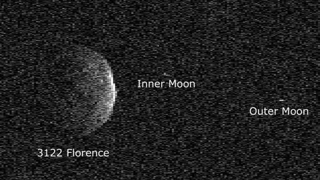 Asteroid (3122) Florence auf einer Radarkarte