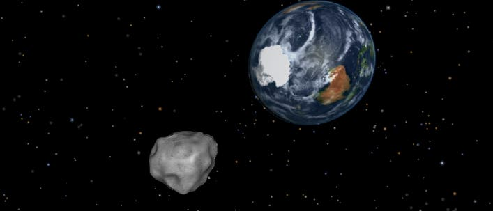 Asteroid 2012 DA14 bei seinem dichten Erdvorbeiflug