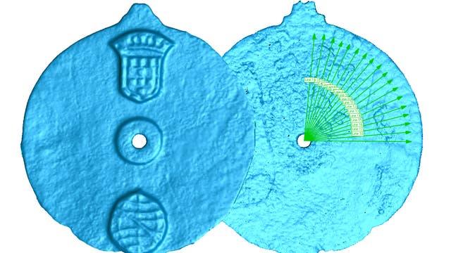 Vorder- und Rückseite des Astrolabiums