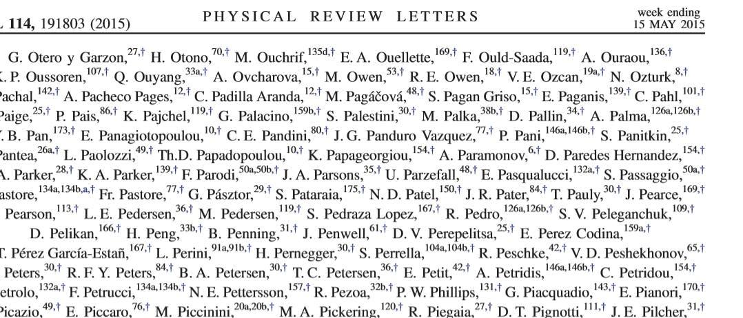 Autorenliste der aktuellen Veröffentlichung