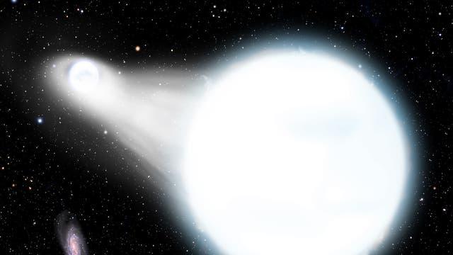 Doppelsternsystem aus zwei Weißen Zwergen