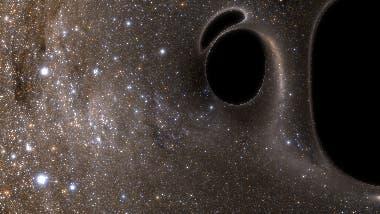 Kollidierende Schwarze Löcher