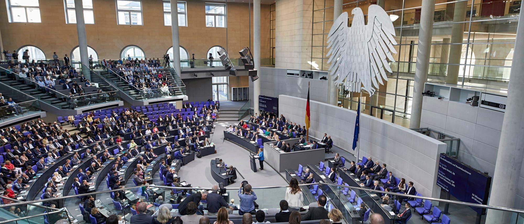 Debatte im Plenum des Bundestags.