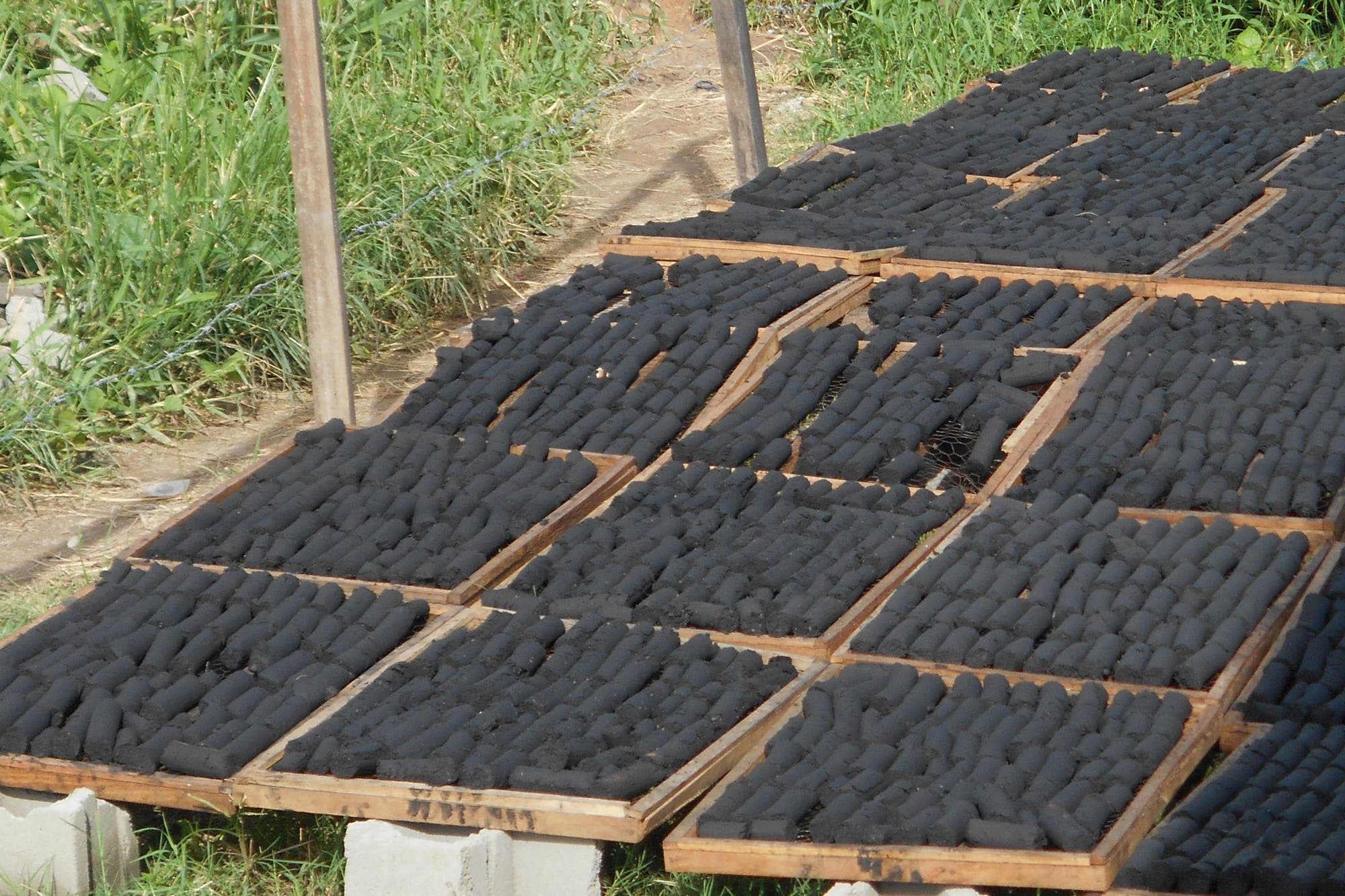 Biobriketts aus pflanzlichen Abfällen