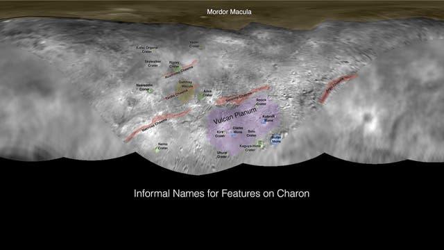 Flurnamen auf Charon