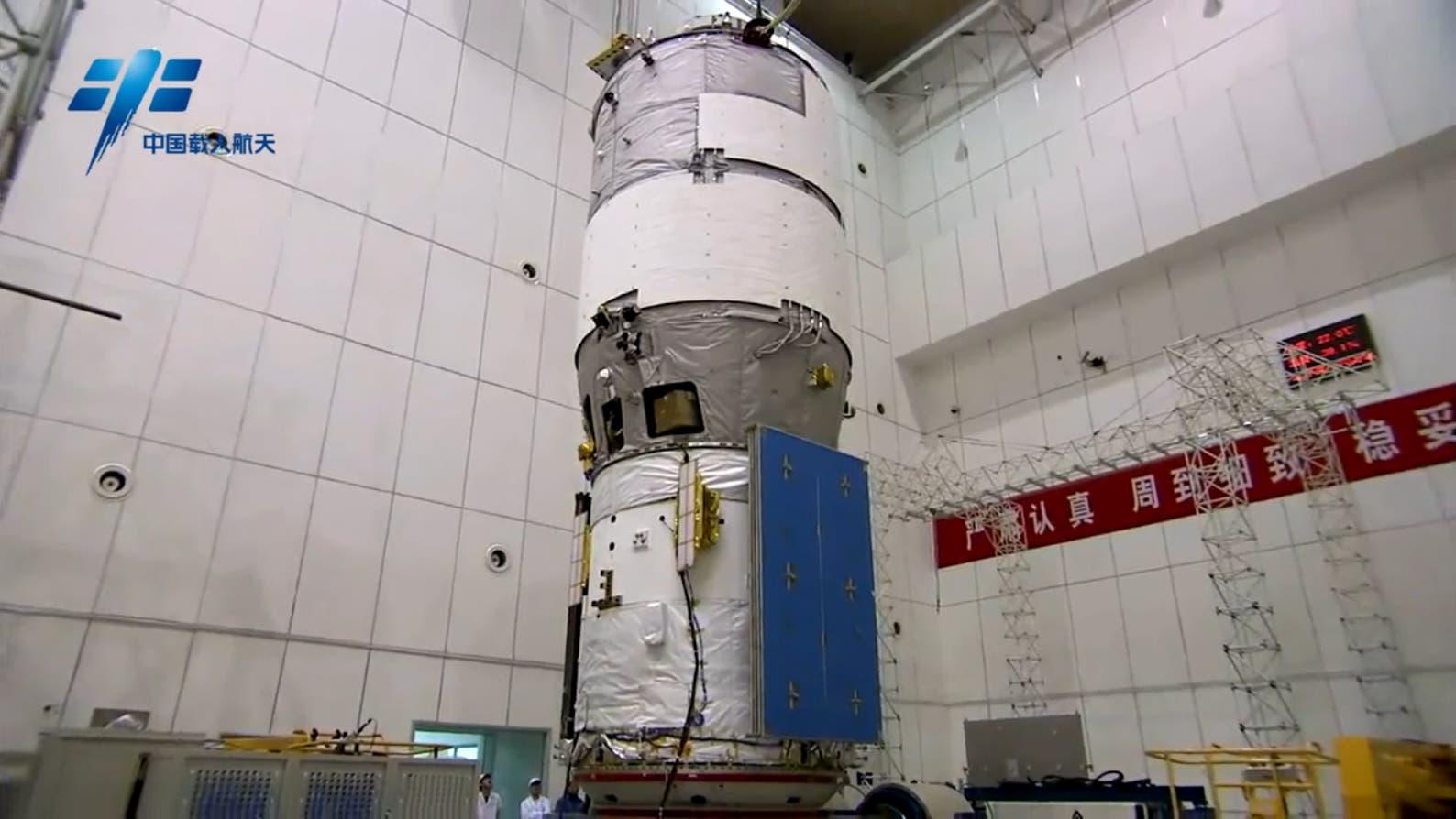 Tiangong-2 in der Montagehalle