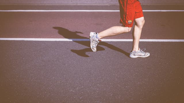 Beine eines Läufers