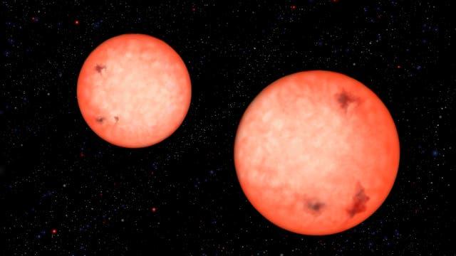 Ein enges Doppelsternsystem aus Roten Zwergen
