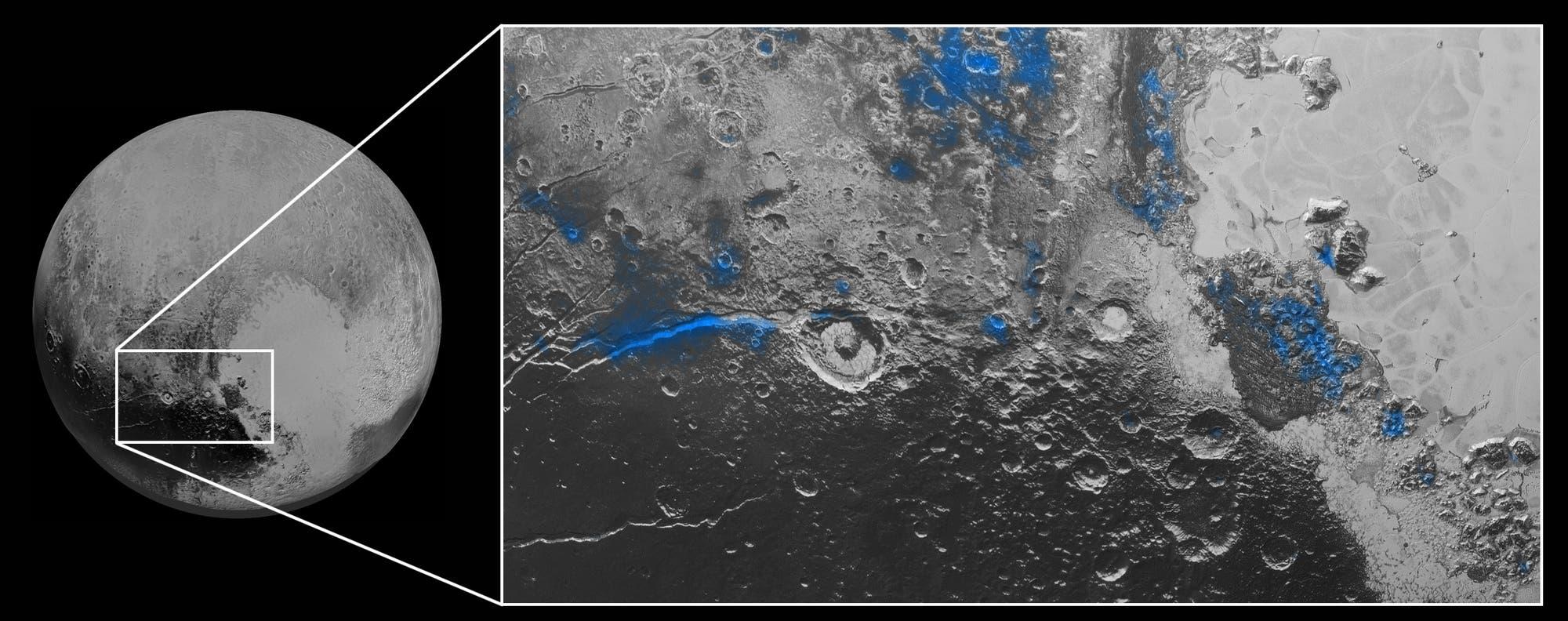 Wassereis auf Pluto