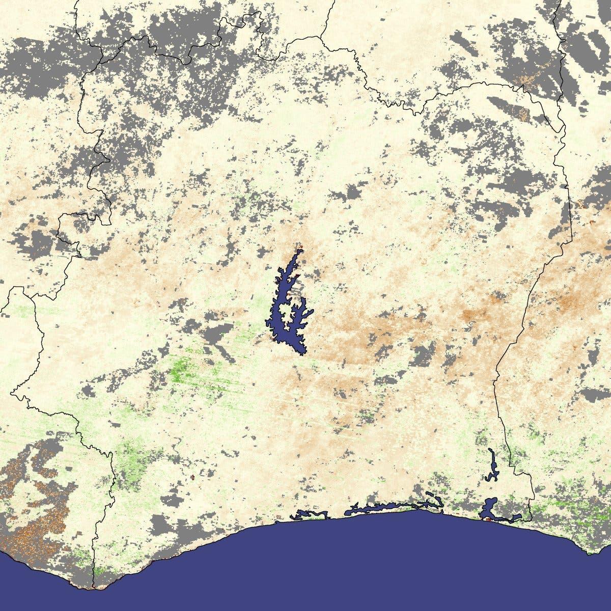 Dürre in der Elfenbeinküste