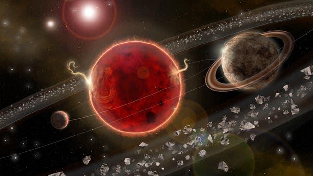 Künstlerische Darstellung des Panetensystems Proxima Centauri