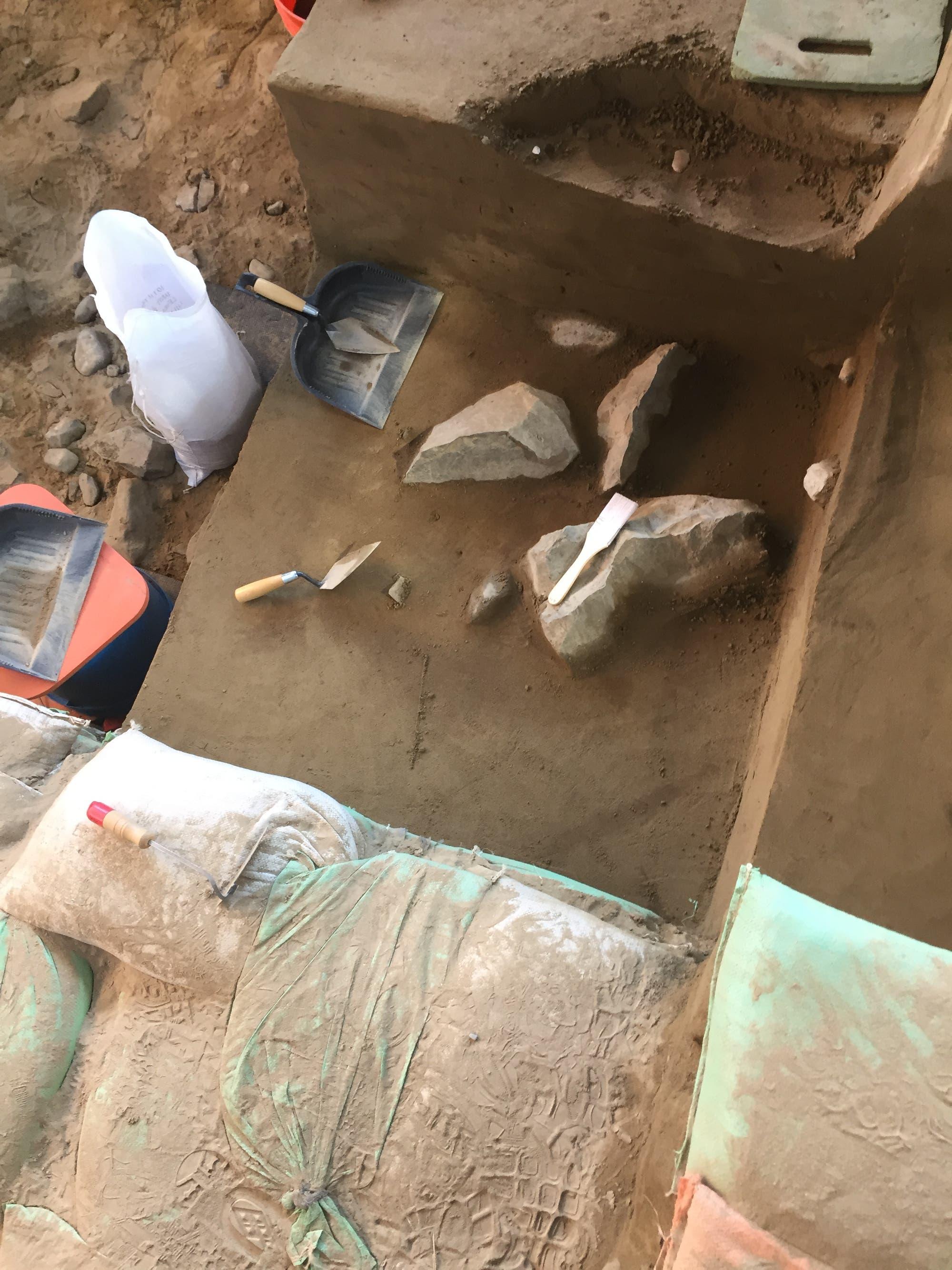 Artefakte der Paläoindianersiedlung