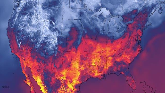 Zwischen Feuer und Eis - neue Wetterkarte mit extremer Detailgenauigkeit